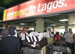 Lagos Airport Enterence and Passengers Nigeria Cheap Flights
