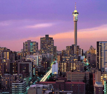 Night View Johannesburg City South Africa